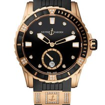 Ulysse Nardin Diver Lady 18K Rose Gold & Diamonds Watch