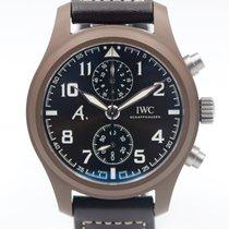 IWC Ceramic Automatic Brown Arabic numerals 46mm new Pilot Chronograph