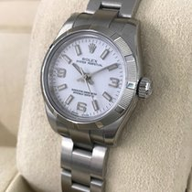 Rolex Oyster Perpetual Lady Watch Steel White Dial 26 mm (2007)