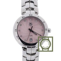 TAG Heuer Link Diamond Pink Guilloche Dial 34.5mm NEW