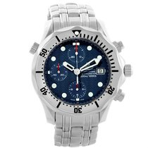 Omega Seamaster Chronograph Blue Dial Mens Watch 2598.80.00