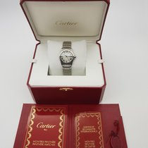 Cartier 1561 Santos Ronde  Dial Stainless Steel Watch