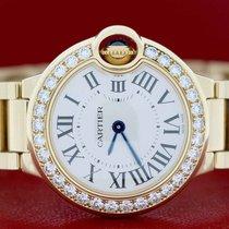 Cartier Ballon Bleu 28MM Gold Original Diamond Bezel Roman...