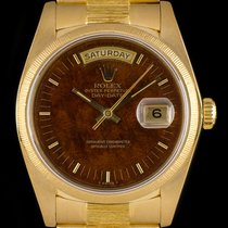 Rolex Day-Date Gold Bark Finish Wood Dial 18078