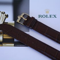 Rolex 19mm Brown Leather Strap for Rolex