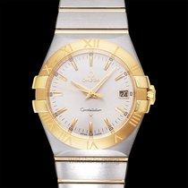 Omega Constellation Quartz Silver Steel/18k Yellow Gold 35mm -...