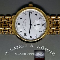 A. Lange & Söhne Yellow gold Manual winding Silver 36mm pre-owned 1815
