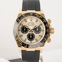 Rolex Daytona Gult gull 40mm Svart Ingen tall