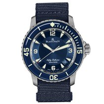 Blancpain Fifty Fathoms Titanio 45mm Azul