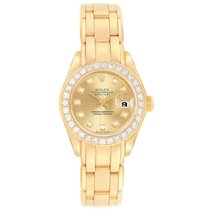 Rolex 69298 Yellow gold 1995 Lady-Datejust Pearlmaster 29mm pre-owned United States of America, Georgia, Atlanta