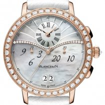 Blancpain Red gold Automatic Mother of pearl No numerals 38.6mm new Women