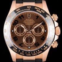 Rolex Daytona Růžové zlato 40mm Hnědá Arabské