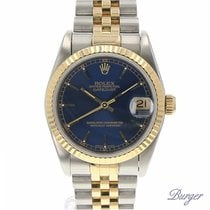 Rolex Datejust Midsize Gold/Steel Blue Dial
