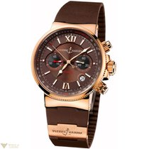 Ulysse Nardin Maxi Marine Chronograph 18k Rose Gold Men's Watch
