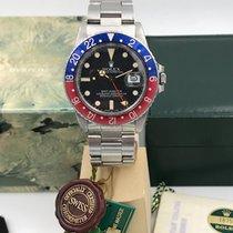 Rolex GMT-Master 16750  garanzia traforata never polished