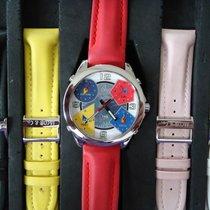 Jacob & Co. 47mm Quarz 2006 gebraucht Five Time Zone Perlmutt