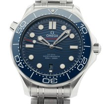 Omega Seamaster Diver 300M Ceramic Bezel Steel 42mm Blue Wave...