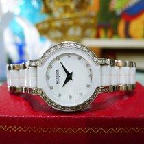 Wittnauer 12r103 Diamond Bezel White Ceramic & Stainless Steel...