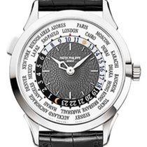Patek Philippe World Time pre-owned 38.5mm White gold