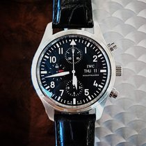 IWC Pilot Chronograph Staal 42mm Zwart Arabisch Nederland, Deurne