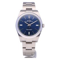 Rolex Oyster Perpetual 39 Staal 39mm Blauw Geen cijfers Nederland, The Netherlands