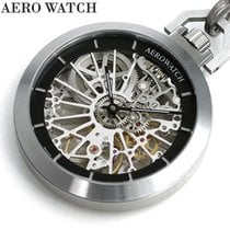 Aerowatch new Manual winding Skeletonized Display Back Luminescent Hands Only Original Parts 48mm Steel