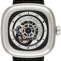 Sevenfriday P1B-1 Stal 47mm Srebrny