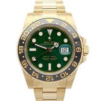 Rolex GMT-Master II Yellow gold 40mm Green