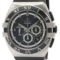 Omega Titanium Automatic Black 41mm pre-owned Constellation Double Eagle