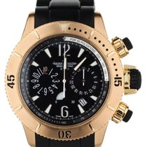 Jaeger-LeCoultre Master Compressor Diving pre-owned 44mm Black Chronograph Date Fold clasp