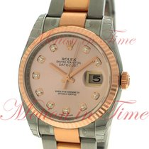 Rolex Datejust 36mm, Pink Champagne Diamond Dial, Fluted Bezel...