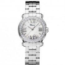 Chopard 278509-3008 Happy Sport 30mm Diamonds Steel Lady