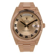 Rolex DAY-DATE II 41mm 18K Rose Gold Pink Roman Dial