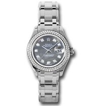 Rolex Lady-Datejust Pearlmaster White gold 29mm Mother of pearl
