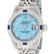 Rolex Oyster Perpetual Lady Date Steel 26mm Blue United States of America, California, Los Angeles