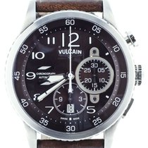 Vulcain pre-owned Automatic 44.6mm Brown Sapphire crystal 3 ATM