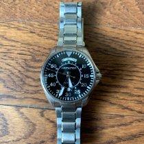 Hamilton Khaki Pilot Day Date Steel 42mm Black Arabic numerals United States of America, Alabama, Northport