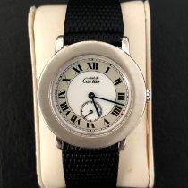 Cartier Silver Quartz Roman numerals 33mm pre-owned Ronde de Cartier