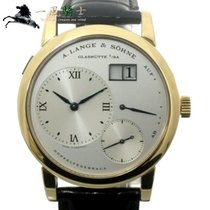 A. Lange & Söhne Yellow gold Manual winding Silver 38mm pre-owned Lange 1