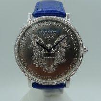 昆仑 銀 自動發條 銀 (純) 43mm 新的 Coin Watch