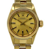 Rolex Yellow gold Automatic Champagne 26mm pre-owned Oyster Perpetual 26