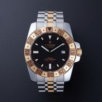 Tudor Rotor Sports Collection Date 18k SOLID GOLD & S S