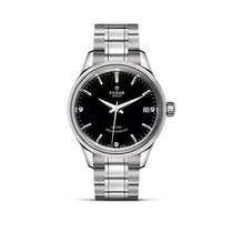 Tudor STYLE Black Date Stainless Steel Automatic Diamond 12500