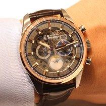 Zenith El Primero Chronomaster 51.2530.4047/78.C810 ZENITH El Primero Acciaio Oro Pelle 45m new