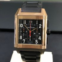Jaeger-LeCoultre Reverso Squadra Chronograph GMT occasion 35mm Or rose