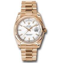 Rolex Day-Date 36 Pозовое золото 36mm Белый