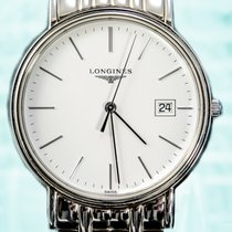 Longines 40mm Quartz pre-owned Présence White