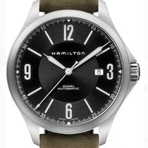 Hamilton Khaki Aviation pre-owned 38mm Black Date Leather