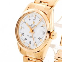 Rolex Yellow gold Automatic White 28mm pre-owned Oyster Perpetual Date