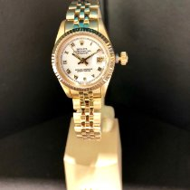 Rolex Lady-Datejust Geelgoud 26mm Wit Romeins